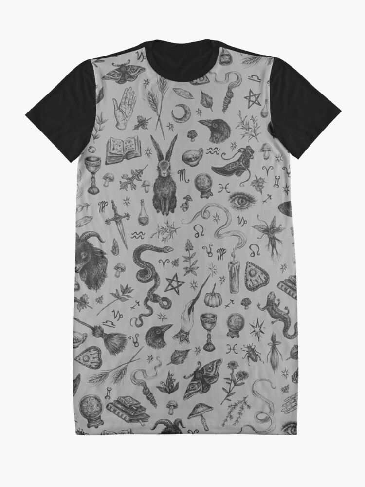 Alternate view of Salem Witch Graphic T-Shirt Dress