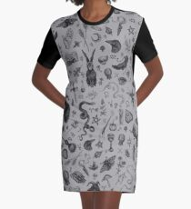 Salem Witch Graphic T-Shirt Dress
