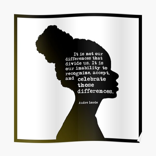 Audre Lorde Differences Poster