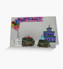 Alles Gute zum Geburtstag Frosch Grußkarte