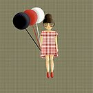 Paris balloons girl by cardwellandink