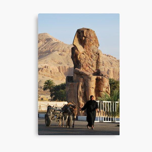 Walking by Memnon Colossus Canvas Print
