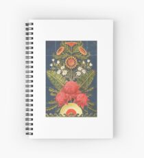 The Australian Flora in Applied Art - The Waratah (Blue) - Mug Spiral Notebook