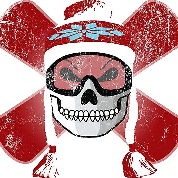Board Skull - Red | DopeyArt by DopeyArt