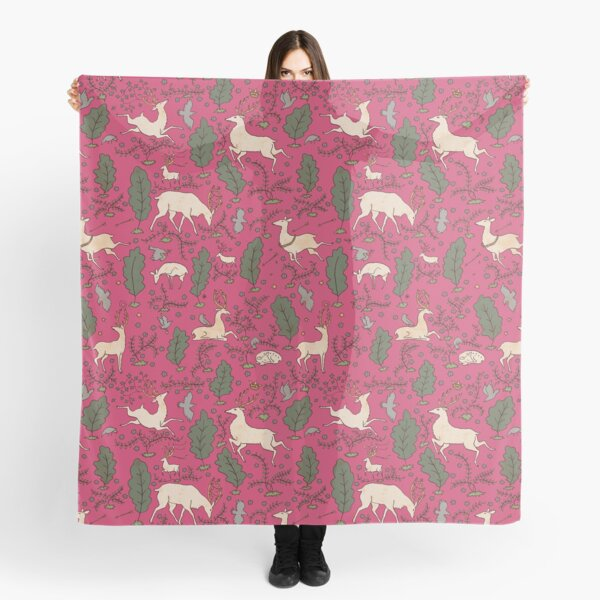 The Running of the Deer - Pink Scarf