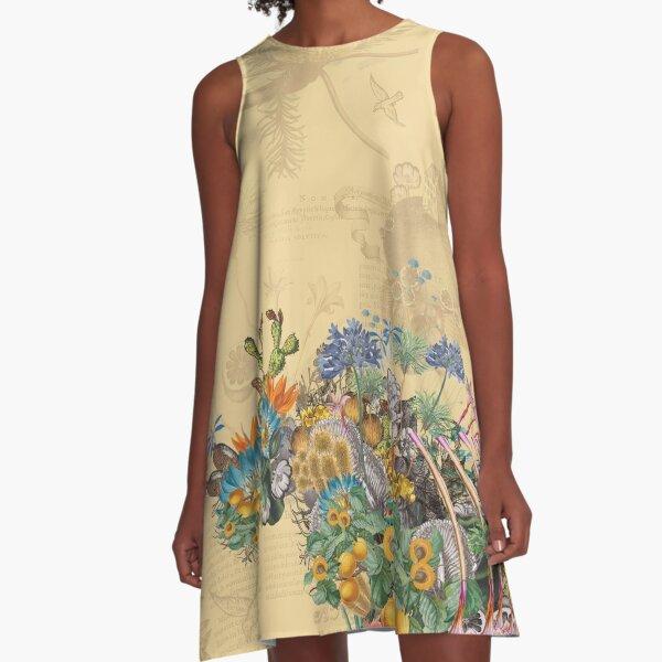 Ancient Growth A-Line Dress