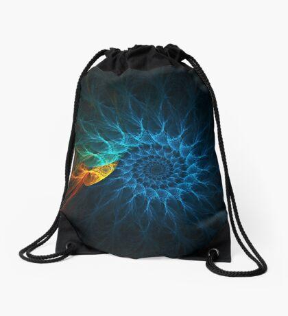 """The Spiral Koi"" (square) Drawstring Bag"