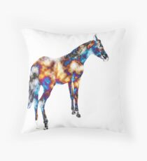 A Different Horse of a Different Color Throw Pillow