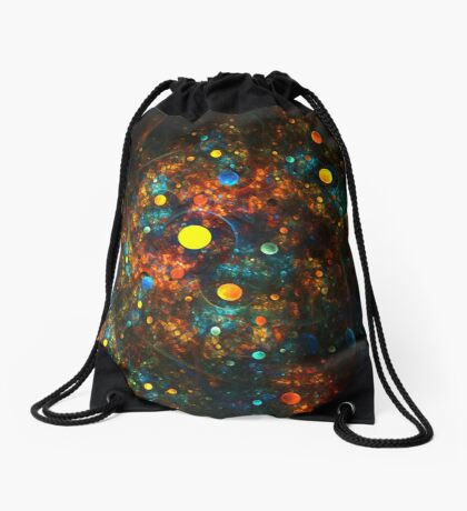"""Celestial Gumballs"" (square) Drawstring Bag"
