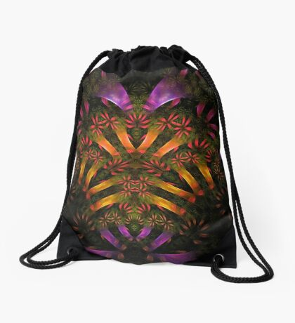 """Heart of the Jungle"" (square) Drawstring Bag"