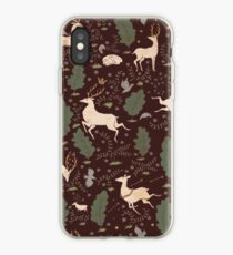 The Running of the Deer - Brown iPhone Case