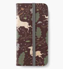 The Running of the Deer - Brown iPhone Wallet/Case/Skin