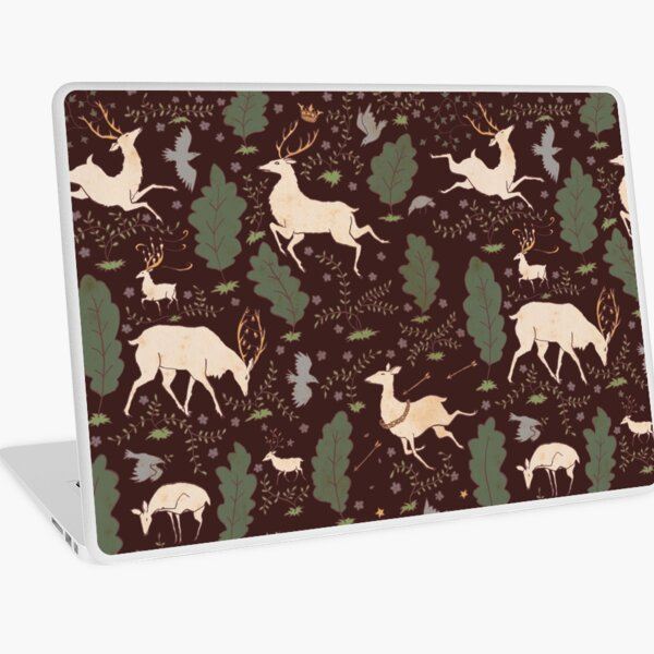 The Running of the Deer - Brown Laptop Skin