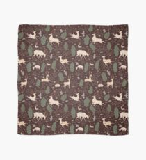 The Running of the Deer - Brown Scarf