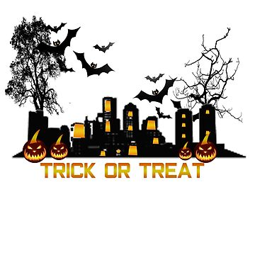 Trick or Treat Spooky Scene by PragmaticFalcon