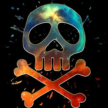Space Pirate, Skull, Crossbones, Capitán, Hueso, Anime, Comic de boom-art