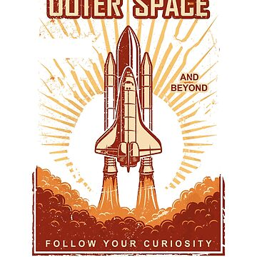NASA Worm Logo Retro Shuttle Poster by martynesmerch