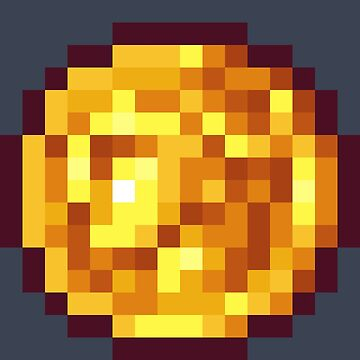 Pixel Gold Coin A by BenHenry
