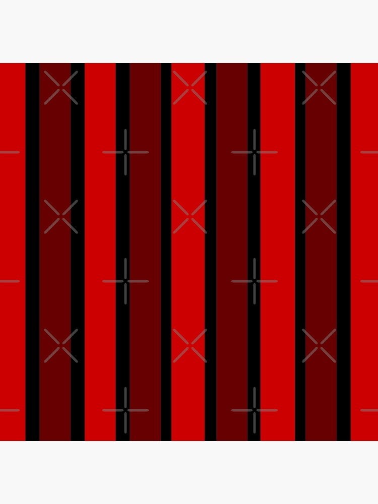 BLACK AND DOUBLE RED THICK STRIPES FOR VIBRANT HOME DECOR AND EYE CATCHING CLOTHING by ozcushionstoo