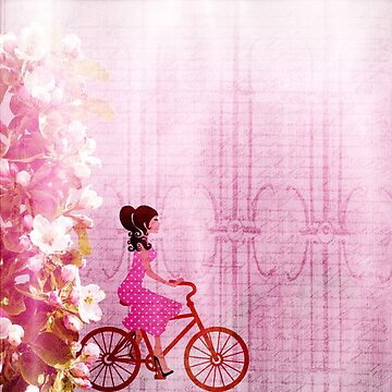 Girl Bike Pink Beautiful Art School Notebook for Daughter by vicekingwear