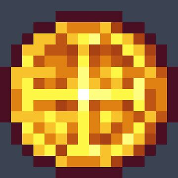 Pixel Gold Coin B by BenHenry