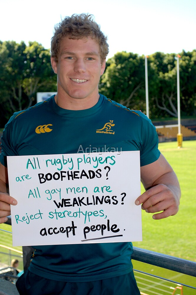 All rugby players are boofheads...Australian Wallabies by Robert Knapman