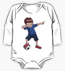 Dabbing Soccer T shirt for Boys Dab Dance Funny Football Tee One Piece - Long Sleeve