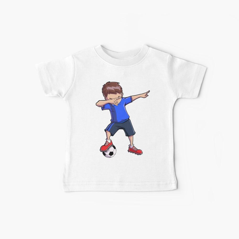 Abtupfendes Fußball-T-Shirt für Jungen tupfen Tanz-lustiges Fußball-T-Stück Baby T-Shirt