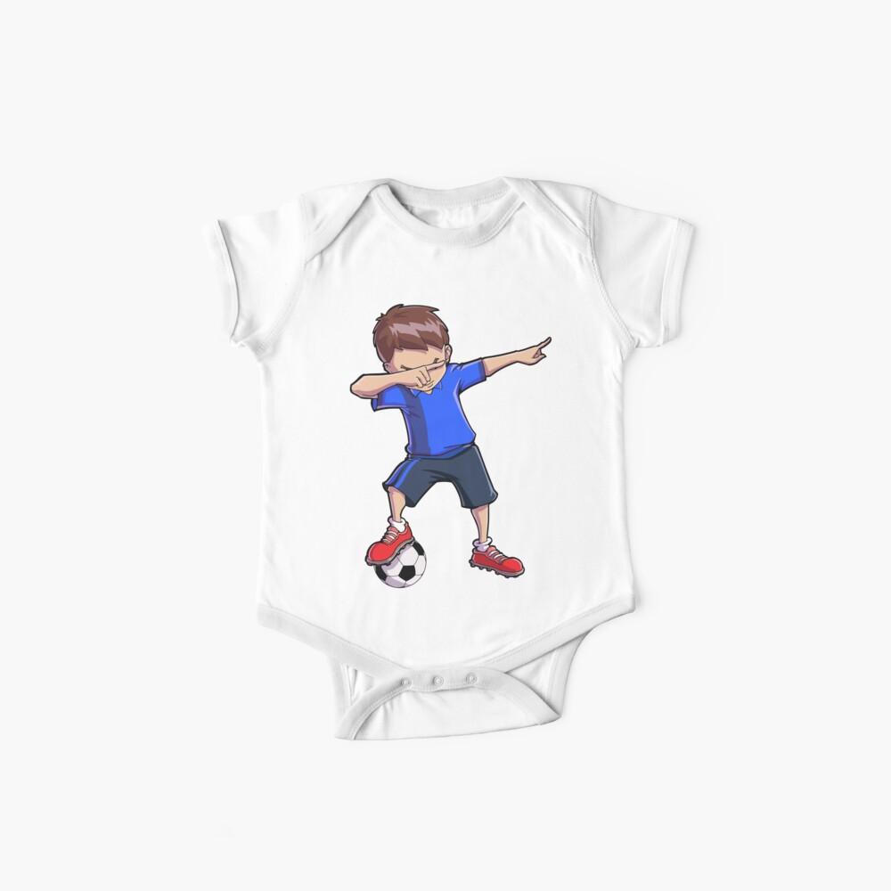 Abtupfendes Fußball-T-Shirt für Jungen tupfen Tanz-lustiges Fußball-T-Stück Baby Body
