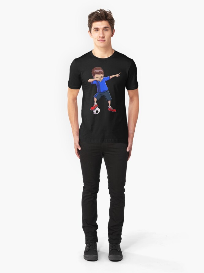Alternative Ansicht von Abtupfendes Fußball-T-Shirt für Jungen tupfen Tanz-lustiges Fußball-T-Stück Slim Fit T-Shirt