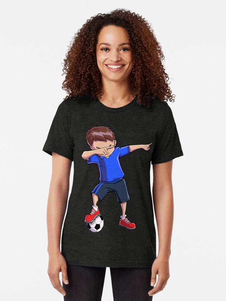 Alternative Ansicht von Abtupfendes Fußball-T-Shirt für Jungen tupfen Tanz-lustiges Fußball-T-Stück Vintage T-Shirt