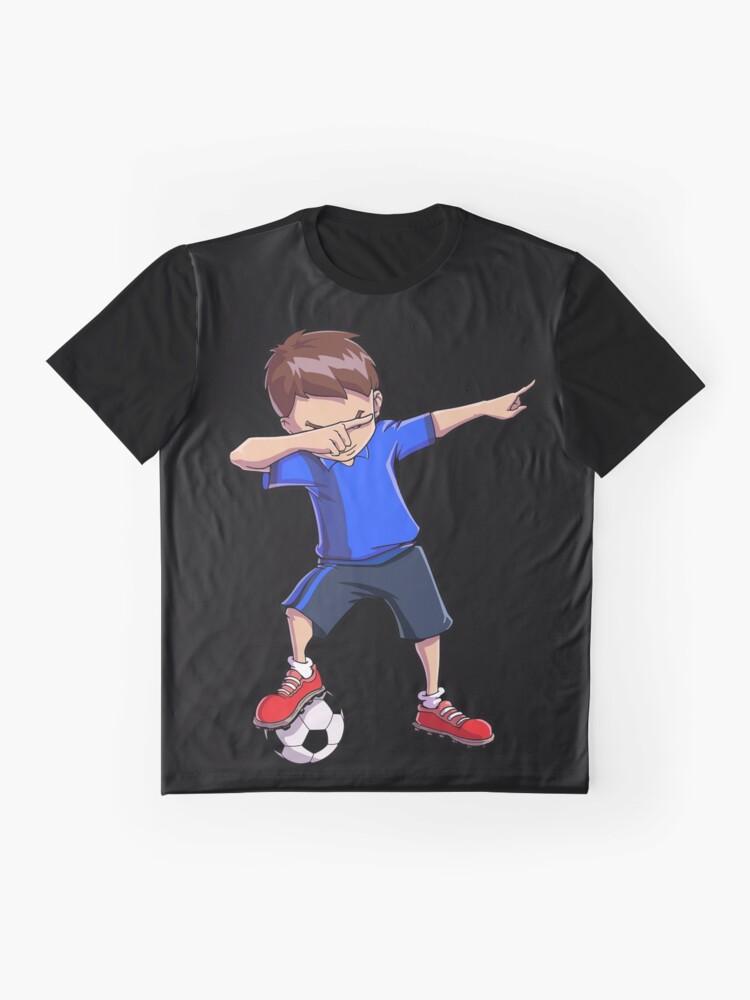 Alternative Ansicht von Abtupfendes Fußball-T-Shirt für Jungen tupfen Tanz-lustiges Fußball-T-Stück Grafik T-Shirt