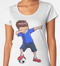 Dabbing Soccer T shirt for Boys Dab Dance Funny Football Tee Women's Premium T-Shirt
