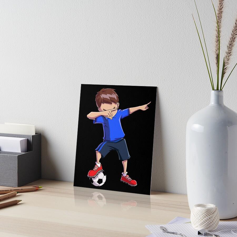 Abtupfendes Fußball-T-Shirt für Jungen tupfen Tanz-lustiges Fußball-T-Stück Galeriedruck