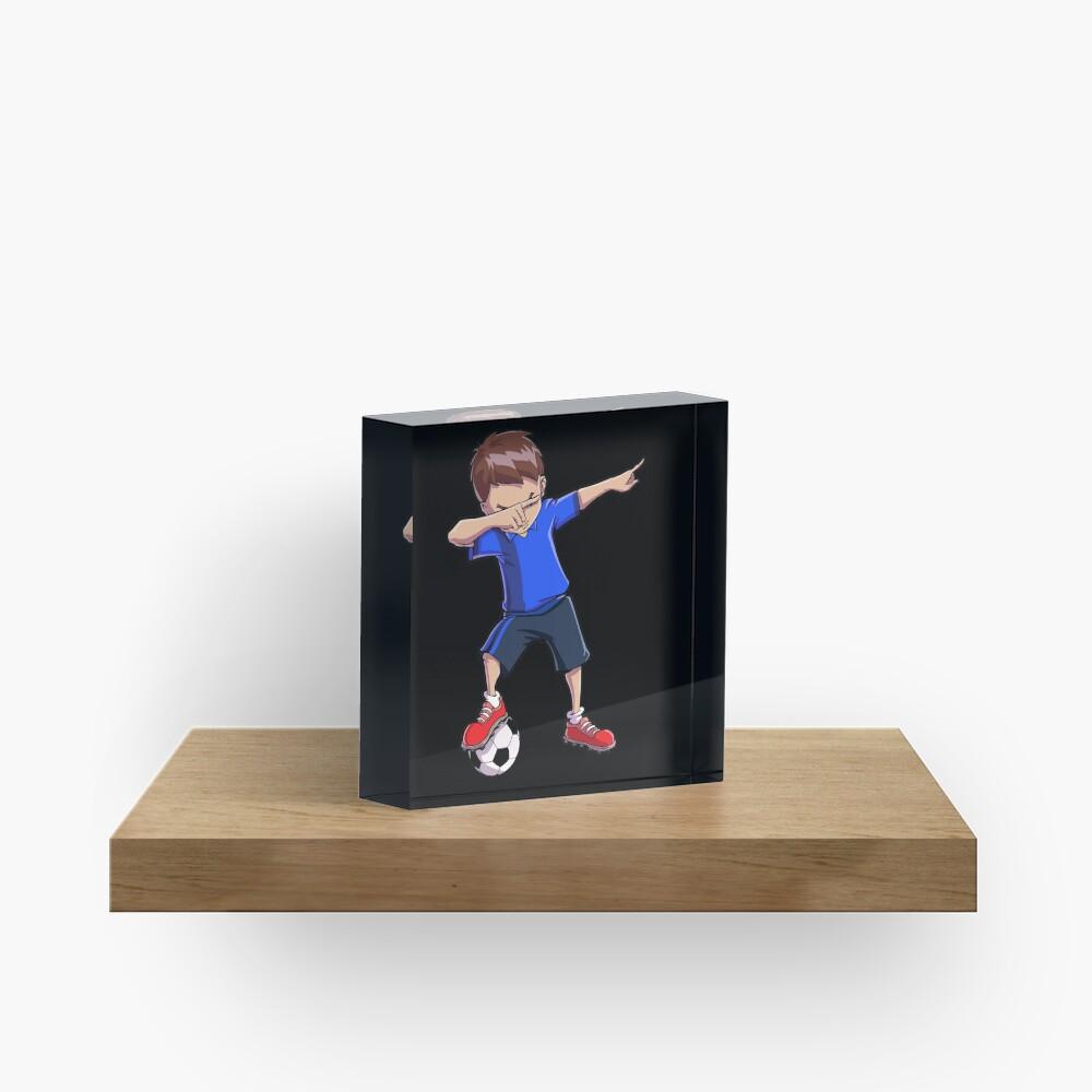 Abtupfendes Fußball-T-Shirt für Jungen tupfen Tanz-lustiges Fußball-T-Stück Acrylblock