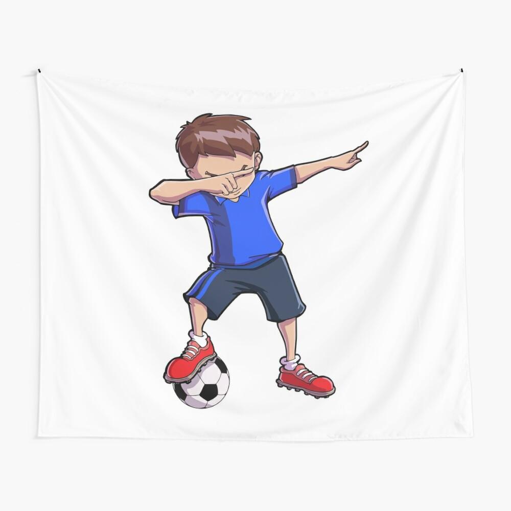 Abtupfendes Fußball-T-Shirt für Jungen tupfen Tanz-lustiges Fußball-T-Stück Wandbehang
