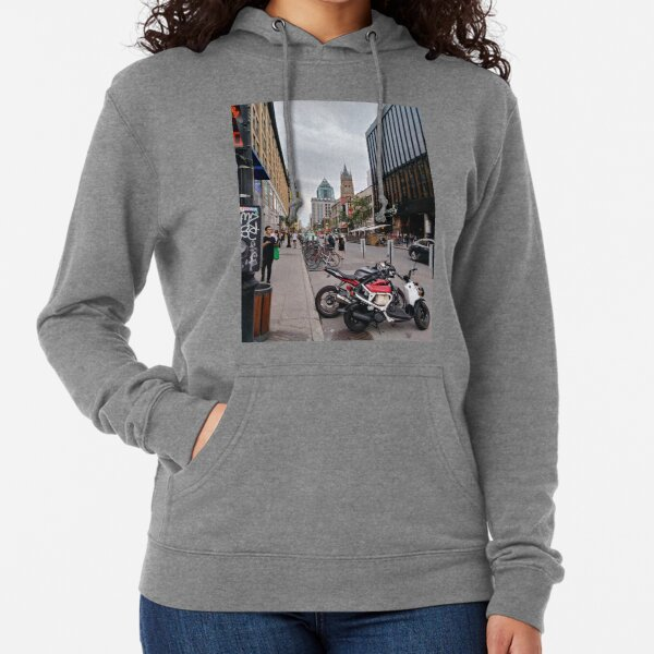 Montreal, #Montreal #City, #MontrealCity, #Canada, #buildings, #streets, #views, #people, #tourists, #pedestrians, #architecture, #flowers, #monuments, #sculptures, #Cathedral, #Commercial #building Lightweight Hoodie