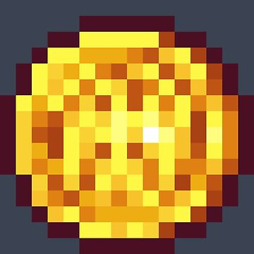 Pixel Gold Coin C by BenHenry