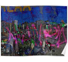 The Naked Neon of urban graffiti dreams. Poster