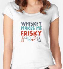 Whisky verspielt Tailliertes Rundhals-Shirt