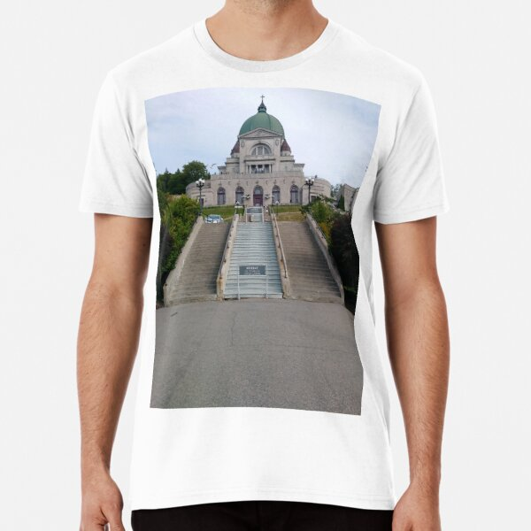 Montreal, #Montreal #City, #MontrealCity, #Canada, #buildings, #streets, #places, #views, #nature, #people, #tourists, #pedestrians, #architecture, #flowers, #monuments, #sculptures, #Cathedral Premium T-Shirt
