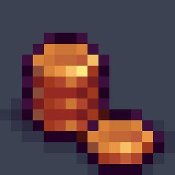 Pixel Copper Coins D by BenHenry