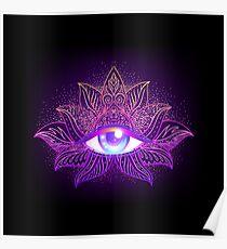 Psytrance Eye Trippy Poster