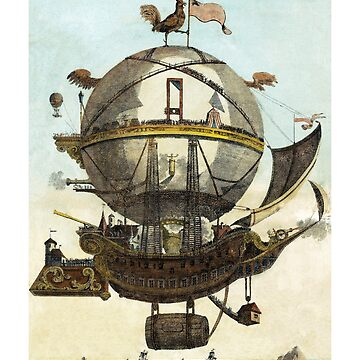 Ancient Hot Air Balloon Ship by SiliconValleyUS