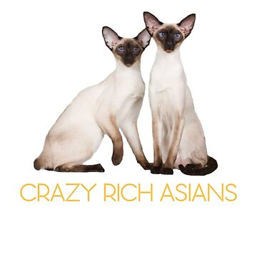 Crazy Rich Siamese Cats by CeeGunn