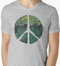 Peaceful Landscape Men's V-Neck T-Shirt