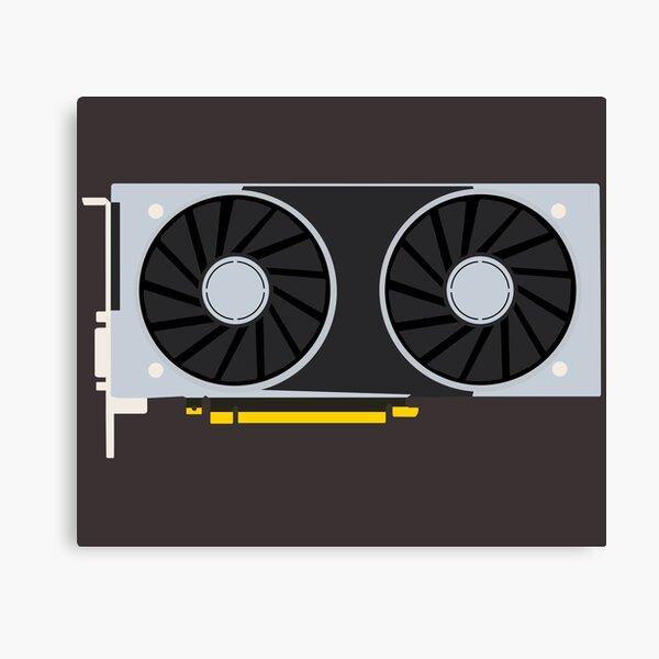 Geforce RTX Minimal Fanart Impression sur toile