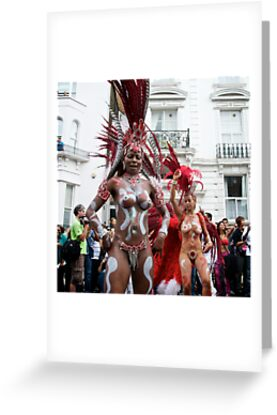 The Notting HIll Carnival - Warrior women - 2009 by Claire Haslope