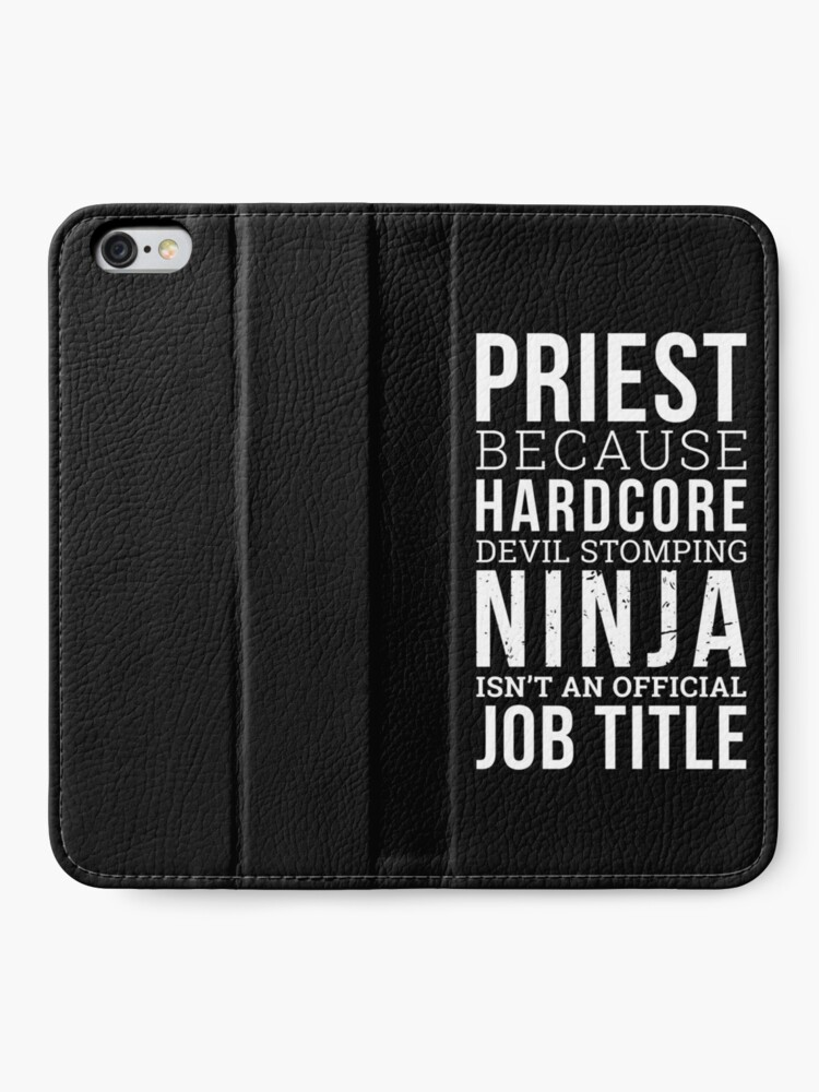Alternate view of Funny Priest Shirt iPhone Wallet