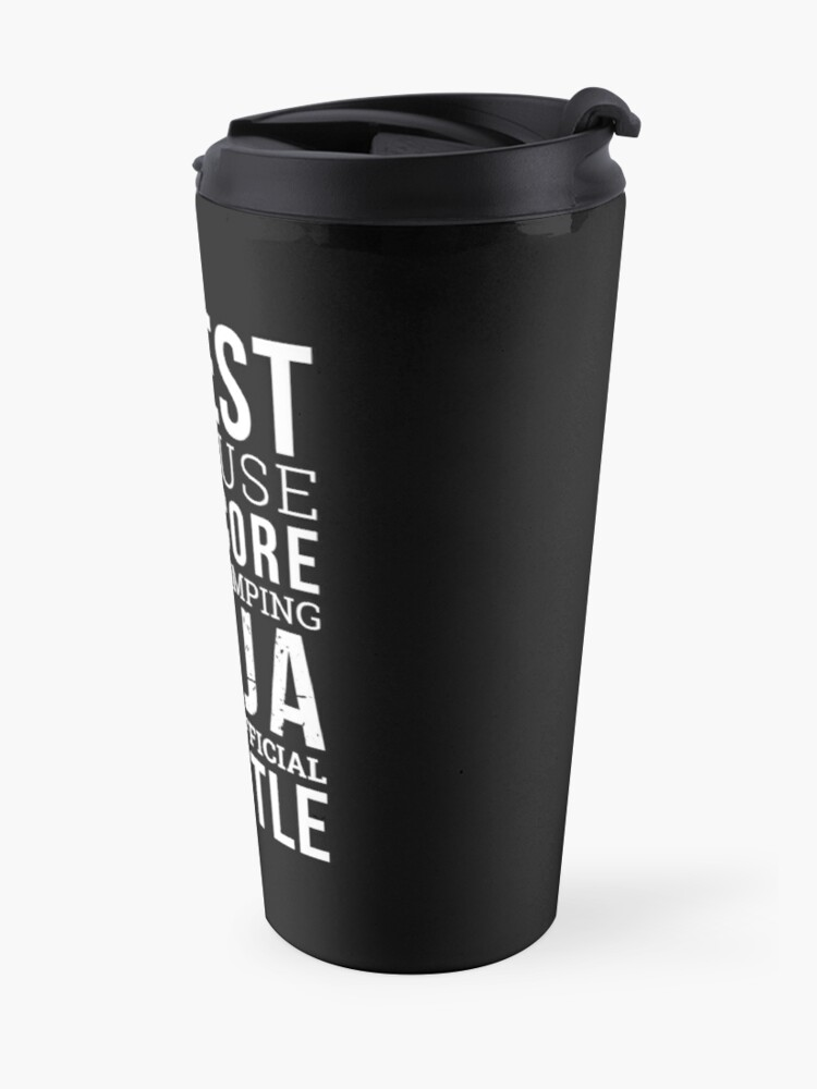 Alternate view of Funny Priest Shirt Travel Mug